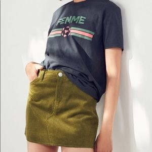 NWOT UO BDG Frayed Corduroy Mini Skirt